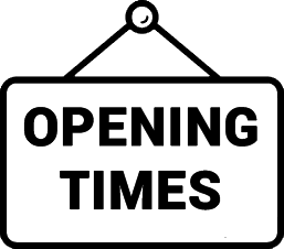 this is an icon for the opening times for hallswood fencing, a fencing company in Derbyshire