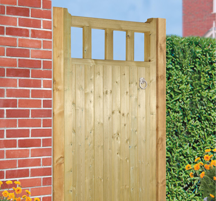 we make wooden gates throughout derbyshire